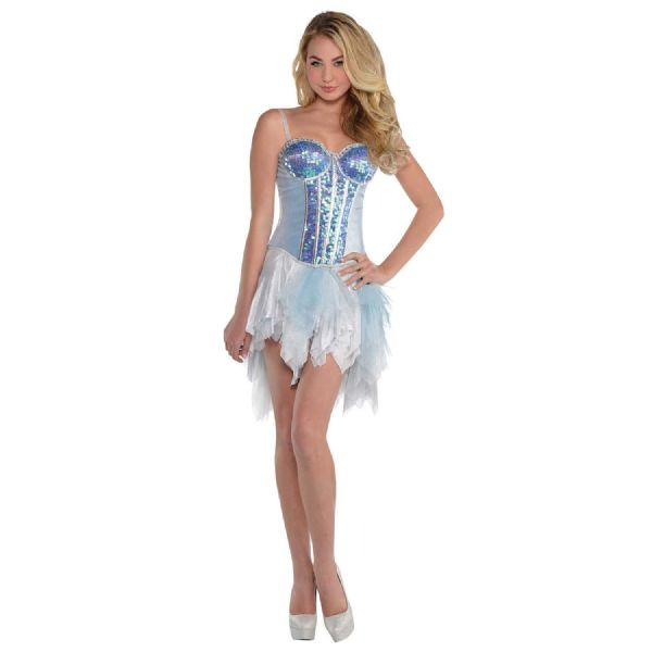 Adults Glistening Deluxe Corset Fancy Dress Outfit Accessory